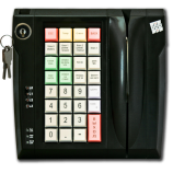 Keyboard LPOS-032 with electro-mechanical key and card reader (black)