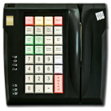 Keyboard LPOS-032 with fingerprint and card reader (black)