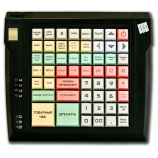 Keyboard LPOS-064 with fingerprint (black)