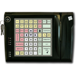 Programmable protected keyboard LPOS-064P with electro-mechanical key and card reader (black)