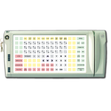 Programmable protected keyboard LPOS-128P with electro-mechanical key and card reader