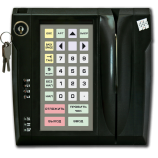 Programmable protected keyboard LPOS-032P with electro-mechanical key and card reader (black)
