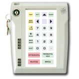 Programmable protected keyboard LPOS-032P with electromechanical key