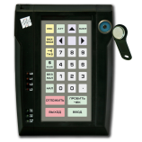 Programmable protected keyboard LPOS-032P with touch key (black)