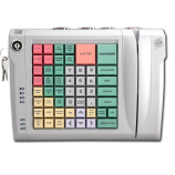 Keyboard LPOS-064-QUDCOM-USB with electro-mechanical key and card reader