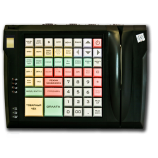 Keyboard LPOS-064-QUDCOM-USB with fingerprint and card reader (black)