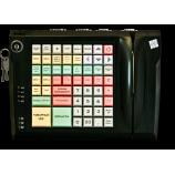 Keyboard LPOS-064-QUDCOM-USB with electro-mechanical key and card reader (black)