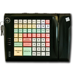 Клавиатура LPOS-064-QUDCOM-USB с электромеханическим ключом и считывателем магнитных карт (черная)
