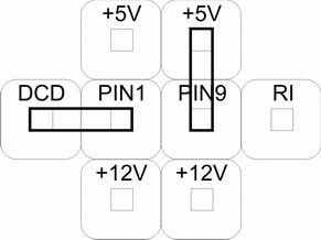 Коммутация напряжения питания и сигналов СОМ-порта RS232 в программируемой клавиатуре LPOS-064-QUADCOM-USB